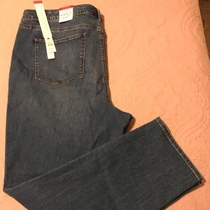 Talbots Flawless Five Pocket straight jeans 22W